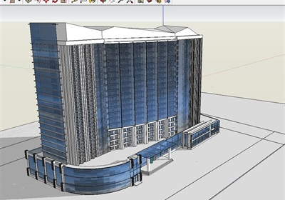 二十一層酒店建筑方案圖(含CAD圖 PSD效果圖 su模型 排版JPG)
