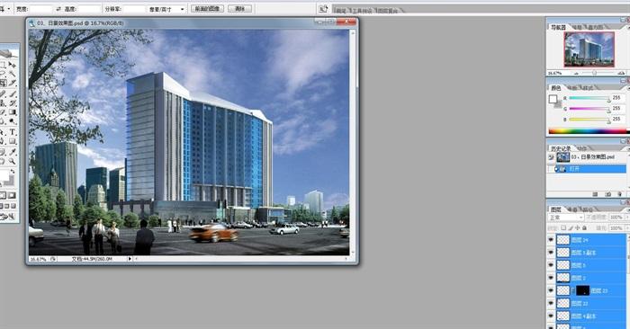 二十一层酒店建筑方案图(含CAD图+PSD效果图+su模型+排版JPG)-约53400平(10)