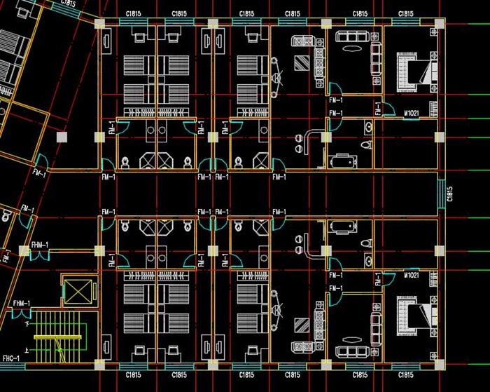 二十一层酒店建筑方案图(含CAD图+PSD效果图+su模型+排版JPG)-约53400平(16)