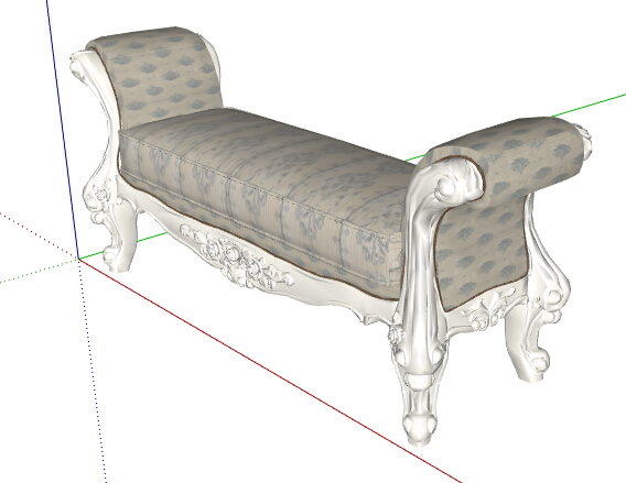 欧式风格详细的坐凳su模型[原创]图片