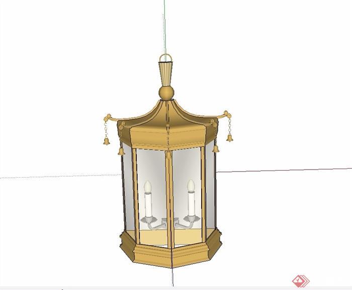 中式风格壁灯素材设计su模型[原创]