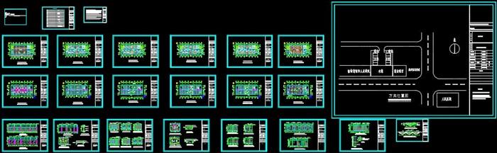 某局一至六层室内办公空间装饰设计施工图(含CAD图及JPG排版文本)(1)