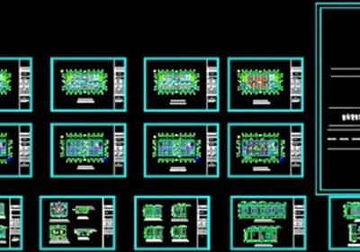 某局一至六層室內辦公空間裝飾設計施工圖(含CAD圖及JPG排版文本)