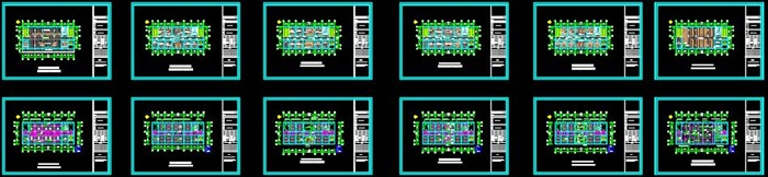 某局一至六層室內辦公空間裝飾設計施工圖(含CAD圖及JPG排版文本)(4)