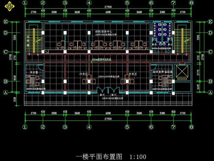 某局一至六層室內辦公空間裝飾設計施工圖(含CAD圖及JPG排版文本)(5)