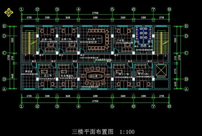 某局一至六层室内办公空间装饰设计施工图(含CAD图及JPG排版文本)(7)