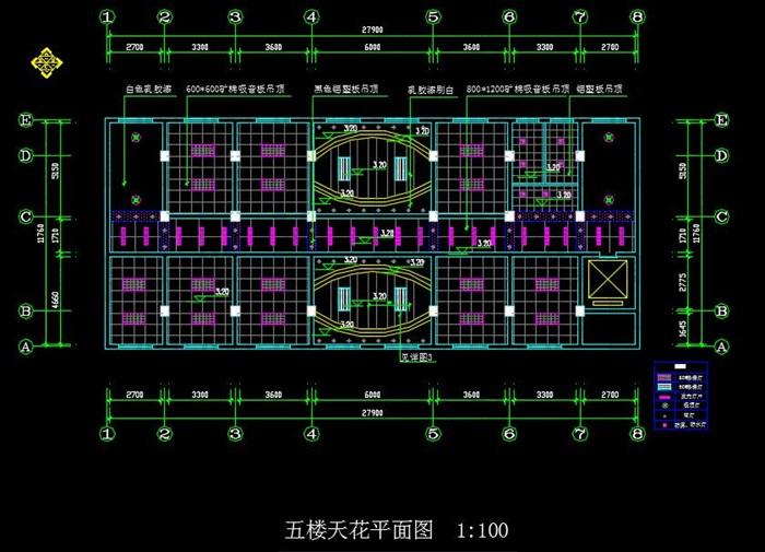 某局一至六層室內辦公空間裝飾設計施工圖(含CAD圖及JPG排版文本)(10)