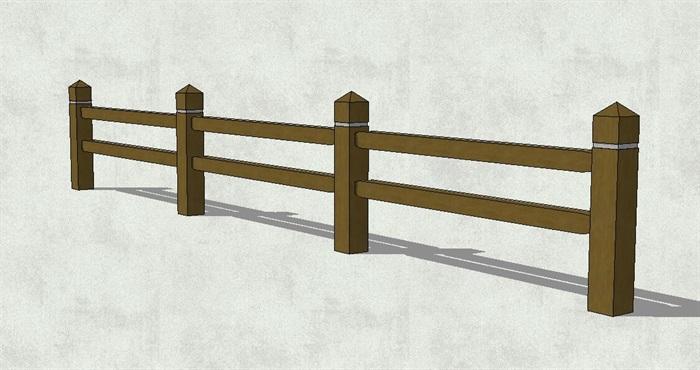 木质栏杆素材设计su模型[原创]