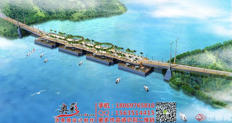 24 千岛湖大桥鸟瞰效果图
