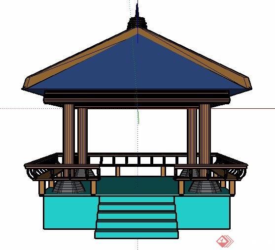 中式景观凉亭素材设计su模型[原创]