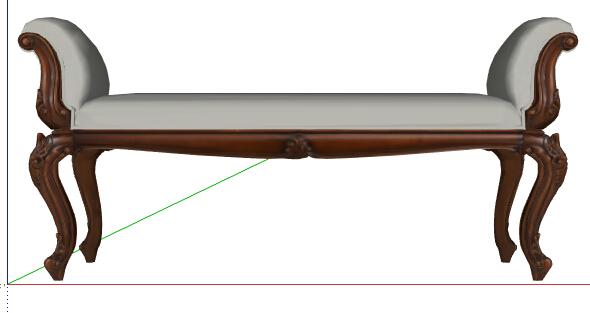 某欧式风格坐凳su模型[原创]图片