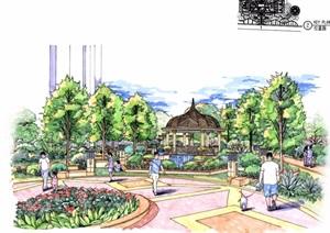 某欧式风格住宅景观扩初设计pdf施工图