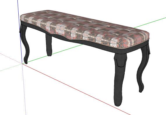 欧式风格详细完整的坐凳设计su模型[原创]