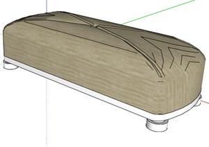 现代精致的沙发坐凳SU(草图大师)模型