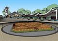 中式景區入口商業大門詳細su模型設計