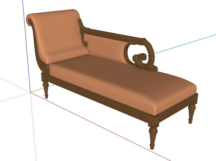 欧式风格经典的沙发设计su模型[原创]