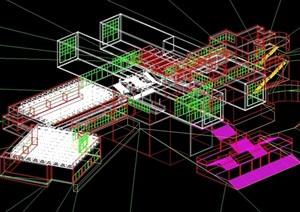 北九州市立博物馆CAD图3DS图