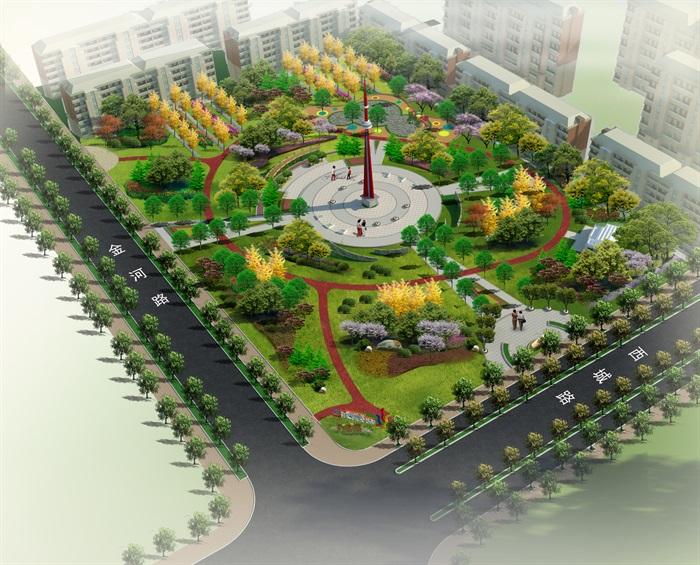 行知園公園方案及全套施工圖(1)
