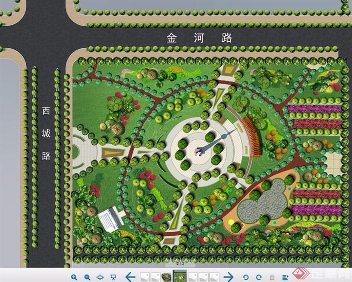 行知园公园方案及全套cad施工图