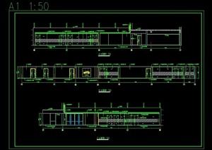 现代汽车展厅装饰设计cad施工图