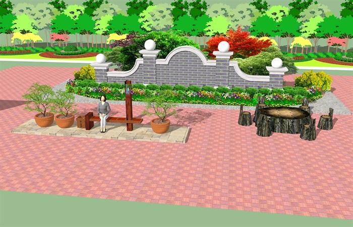 园林景观公园设计su模型[原创]