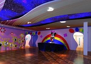 某现代风格幼儿园详细室内设计3d模型及效果图