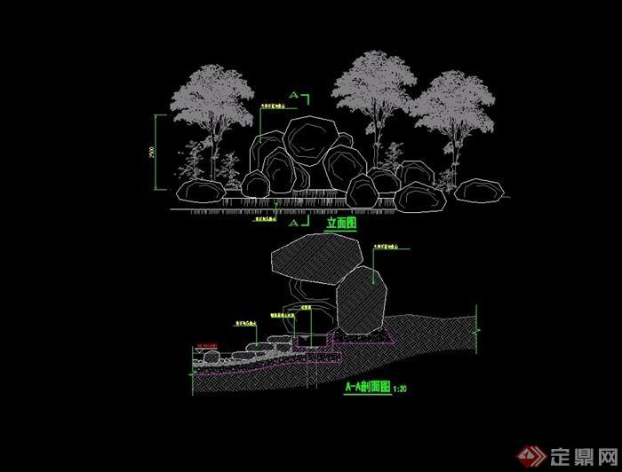 园林景观假山设计cad方案[原创]