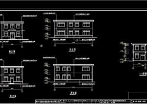 东方羽绒工厂多层建筑设计cad施工图