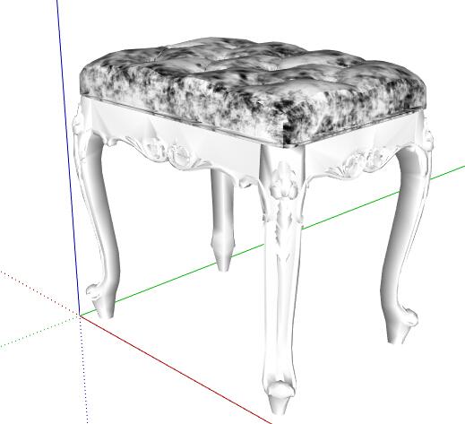 某欧式风格详细的坐凳素材设计su模型[原创]
