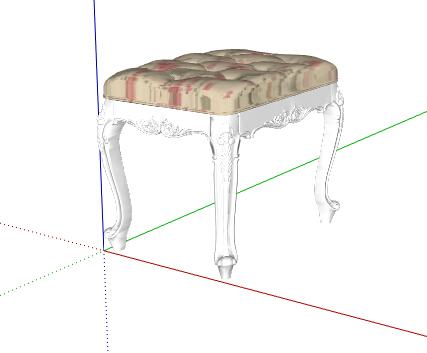 欧式风格详细的沙发坐凳素材设计su模型[原创]