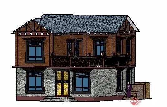 藏式传统民居建筑设计su模型[原创]图片