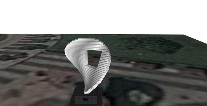 现代独特小品雕塑素材su模型[原创]