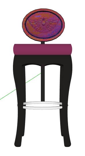 欧式风格详细的坐凳素材su模型[原创]图片