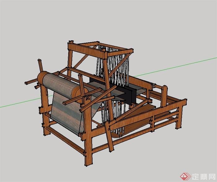 某现代风格织布机小品素材设计su模型[原创]
