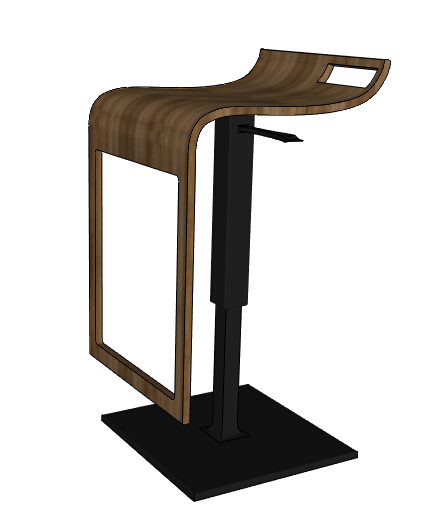 某室内可升降坐凳素材设计su模型[原创]