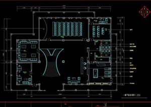 一套三层现代办公室cad施工图