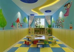 幼儿园教室设计3d模型及效果图