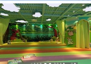 现代幼儿园详细教室设计3d模型及效果图