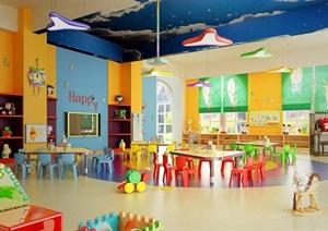某现代风格详细教室设计3d模型及效果图