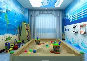 幼儿园详细教室设计3d模型及效果图