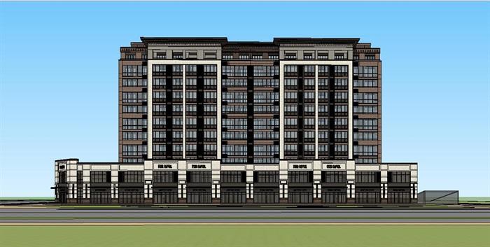新亚洲风格_新亚洲风格商业公寓住宅su模型[原创]