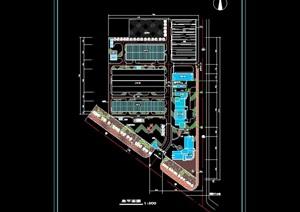 工厂总体规划cad方案