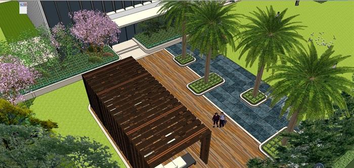 融信未来城样板区住宅景观设计su模型