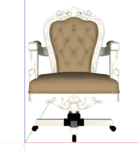 欧式风格精致详细的沙发椅子设计su模型[原创]