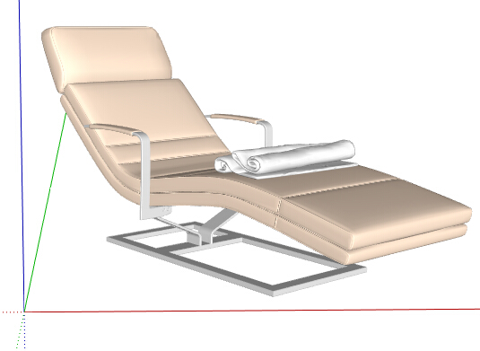 某现代风格室内躺椅素材设计su模型[原创]