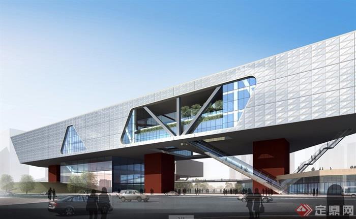深圳科技馆详细建筑设计cad方案及效果图[原创景观设计pa图片