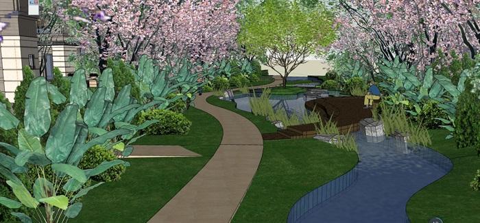 某新古典风格详细的住宅景观设计su模型