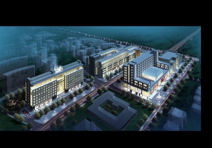 现代风格商业办公楼建筑效果图[排名]重庆平面设计学校原创哪个好图片