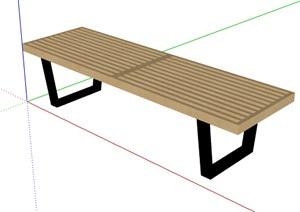 简约户外坐凳设计SU(草图大师)模型