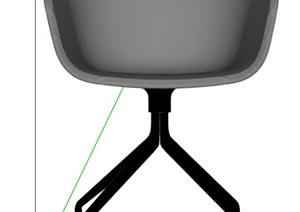 简约灰色座椅设计SU(草图大师)模型